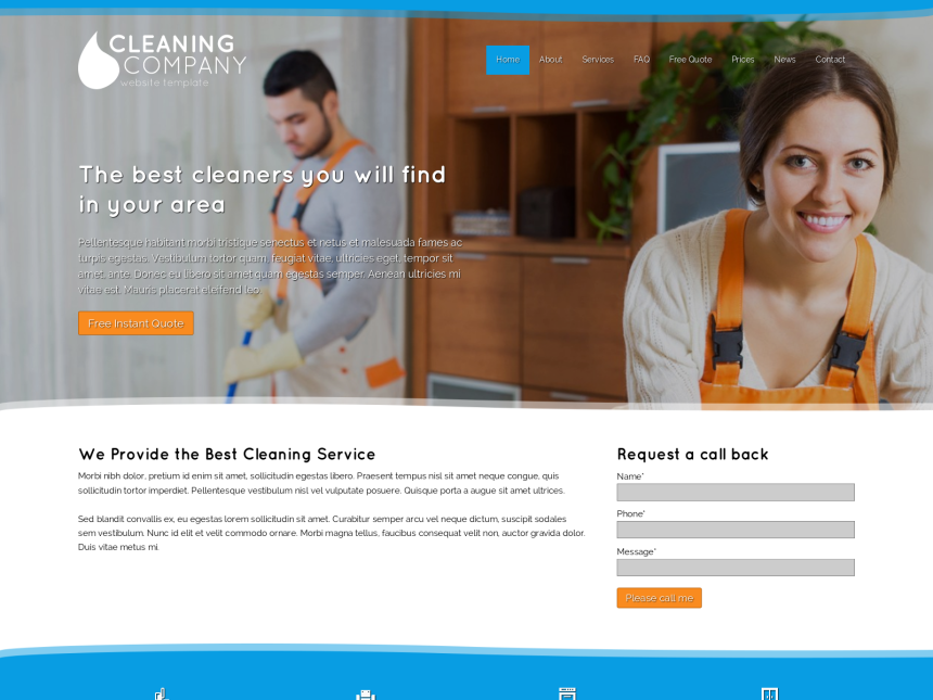 Cleaning service website templates juvecenitdelacabrera cleaning service website templates flashek Choice Image
