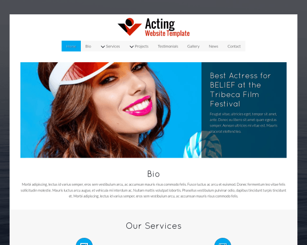 Acting Website Template