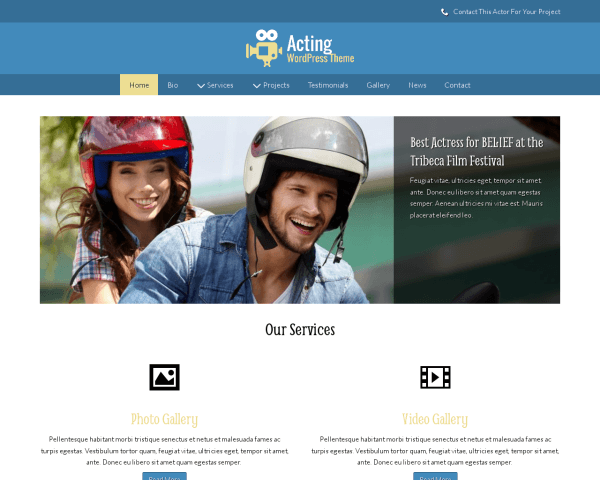 Acting Wordpress Theme