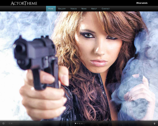 laptop screenshot WordPress theme 'Actor WordPress theme'