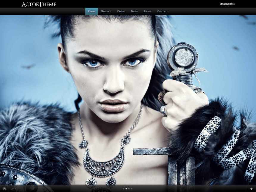 desktop screenshot of the WordPress theme 'Actor WordPress theme'