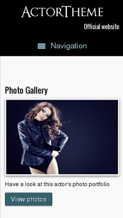 mobile phone screenshot WordPress theme 'Actor WordPress theme'