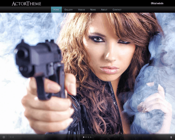 Actor WordPress theme thumbnail (desktop screenshot)