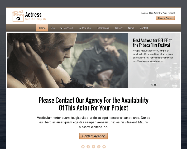Actress Website Template
