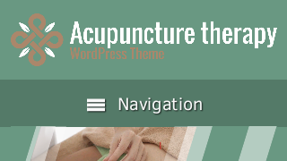 landscape iphone mobile of WordPress theme 'Acupuncture Therapy Wordpress Theme'