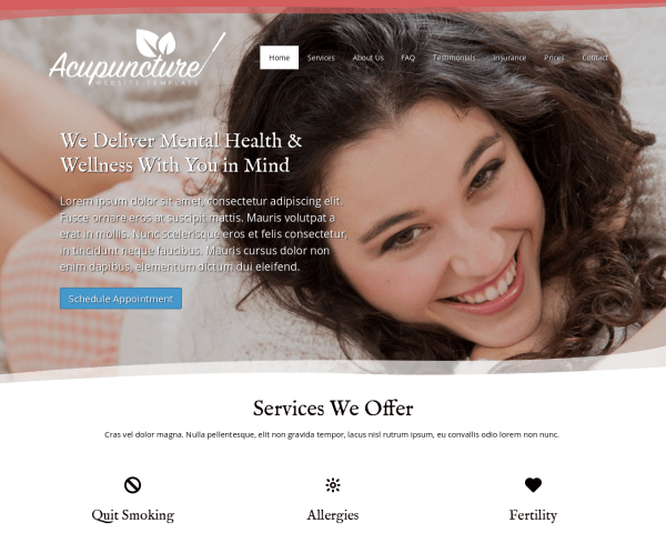 Acupuncture Website Template