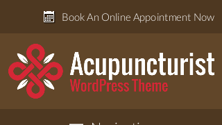 landscape iphone mobile of WordPress theme 'Acupuncturist Wordpress Theme'