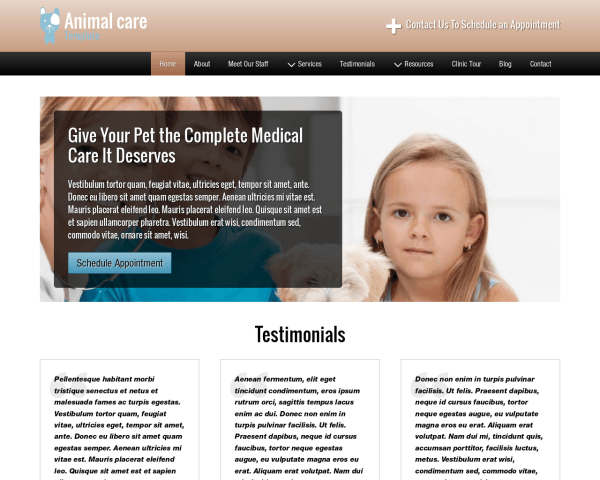 Animal Care Template
