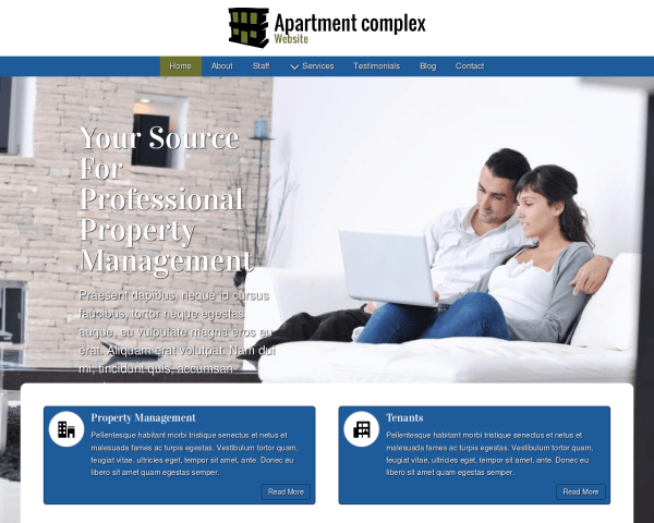 image representation of the Apartment Complex Website