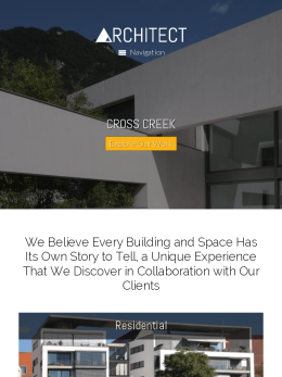 tablet screenshot WordPress theme 'Architect WordPress theme'
