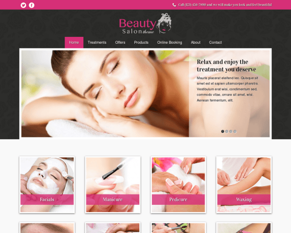 Beauty Salon Wordpress Theme - Responsive WordPress Theme