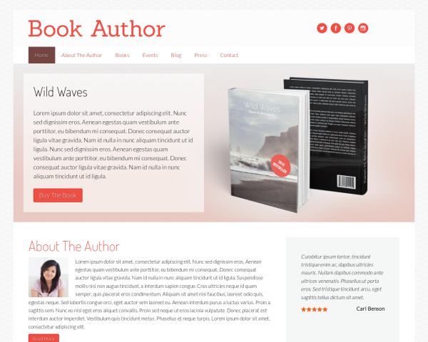 bookauthor 1280x1024 macbook Top Result 60 Awesome Wordpress Templates for Authors Picture 2017 Xzw1