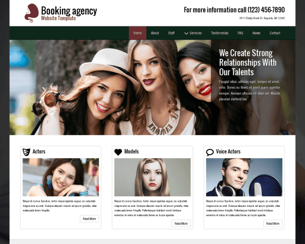 Booking Agency Website Template