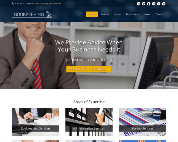 Bookkeeping Wordpress Theme