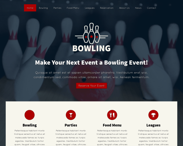 image representation of the Bowling WordPress Theme
