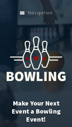mobile phone screenshot WordPress theme 'Bowling WordPress Theme'
