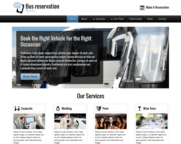 image representation of the Bus Reservation Website