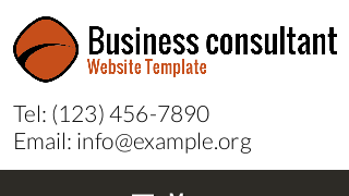 landscape iphone mobile of WordPress theme 'Business Consultant Website Template'