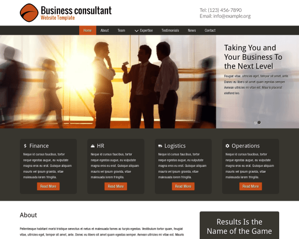 image representation of the Business Consultant Website Template