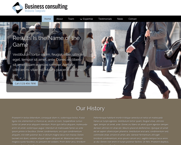 image representation of the Business Consulting Website Template