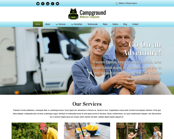 Campground Website Template