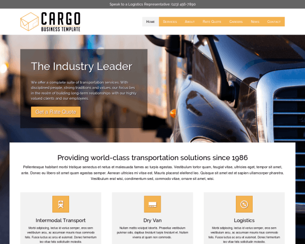 Desktop screenshot of the Cargo Wordpress Theme