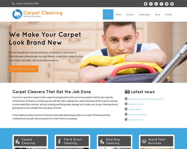 image representation of the Carpet Cleaning Website Template