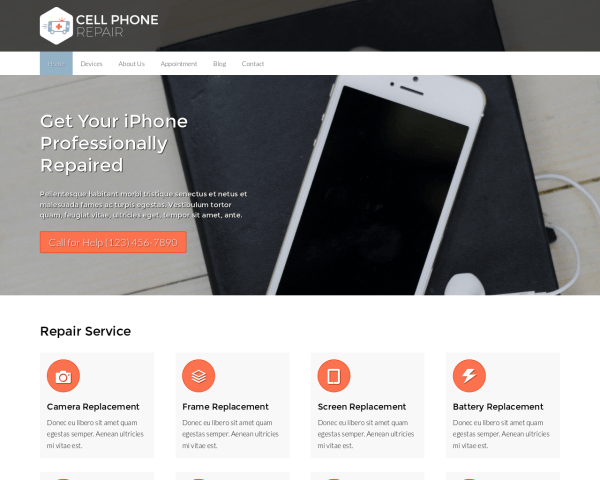 Cell Phone Repair Wordpress Theme