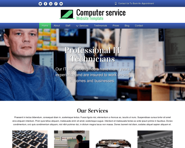 image representation of the Computer Service Website Template