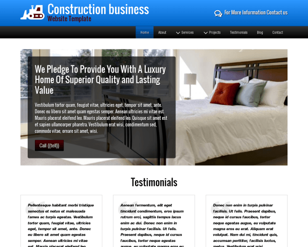 Construction Business Website Template