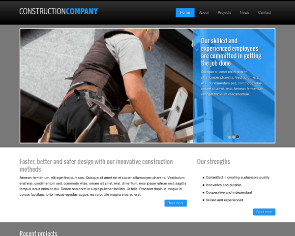 Construction Company Wordpress Theme