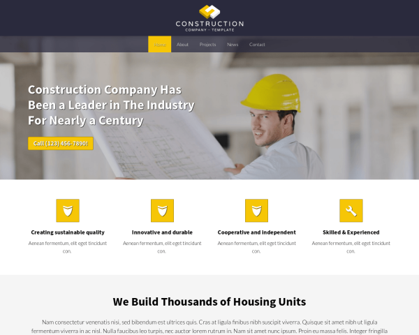 image representation of the Construction Company Website Template