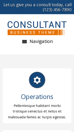 mobile phone screenshot WordPress theme 'Consultant WordPress theme'