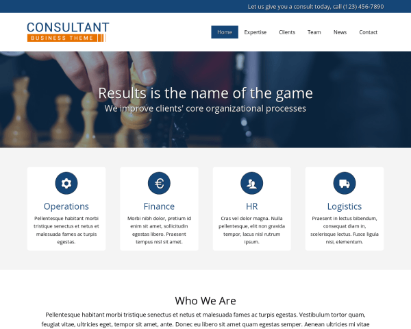 Consultant WordPress theme thumbnail (desktop screenshot)