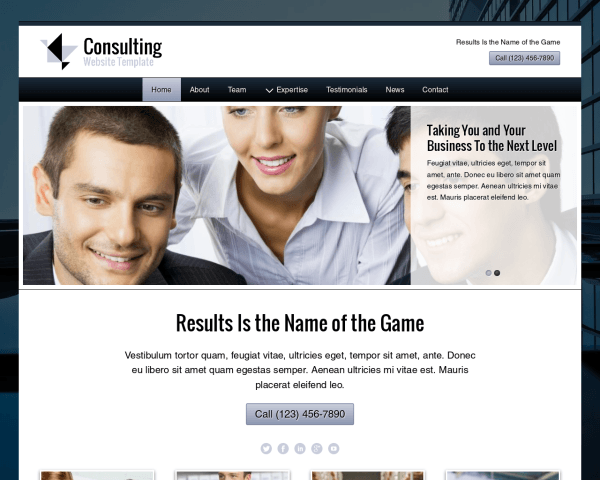 image representation of the Consulting Website Template