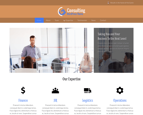 image representation of the Consulting Wordpress Theme