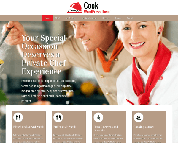 Cook Wordpress Theme