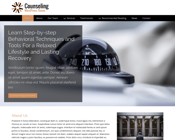 Counseling WordPress Theme thumbnail (desktop screenshot)