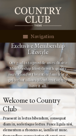 mobile phone screenshot WordPress theme 'Country Club WordPress theme'