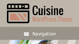 landscape iphone mobile of WordPress theme 'Cuisine Wordpress Theme'