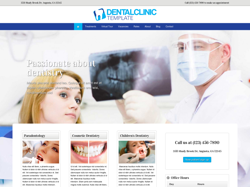 Dental Clinic Wordpress Theme - Premium template for the Dentist ...