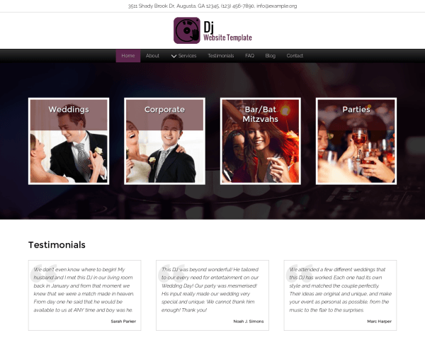 Dj Website Template