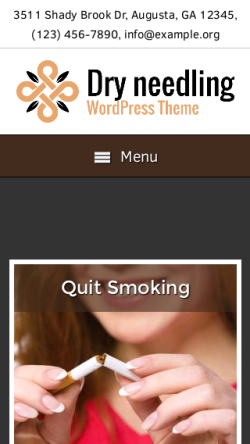 mobile phone screenshot WordPress theme 'Dry Needling Wordpress Theme'