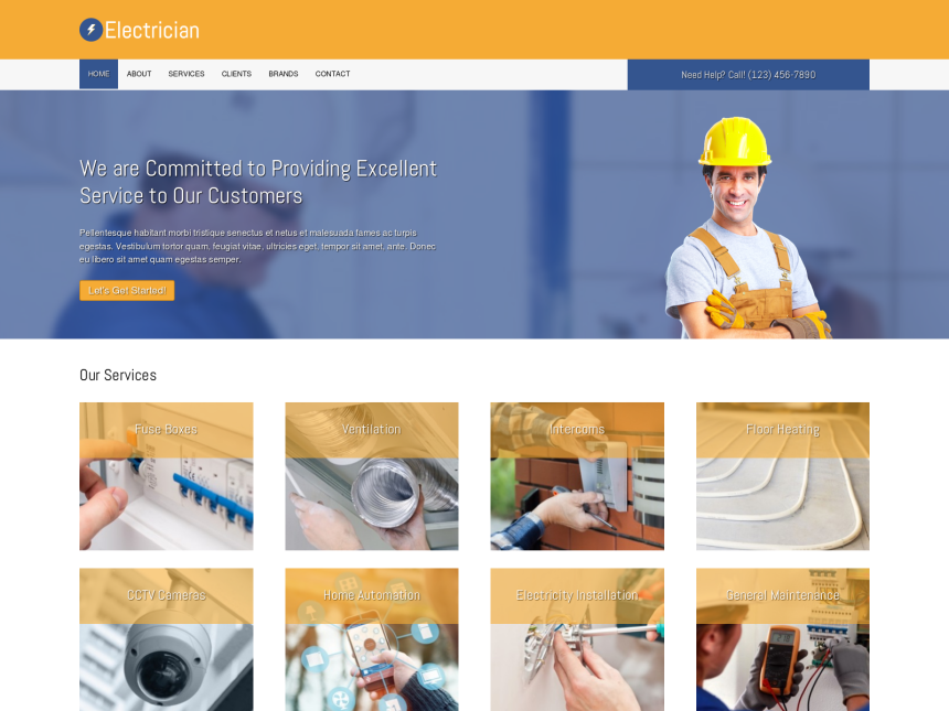 Electrical Contractor WordPress Themes | NexusThemes.com | The #1 ...