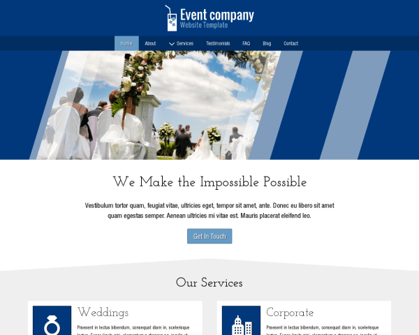 Event Company Website Template