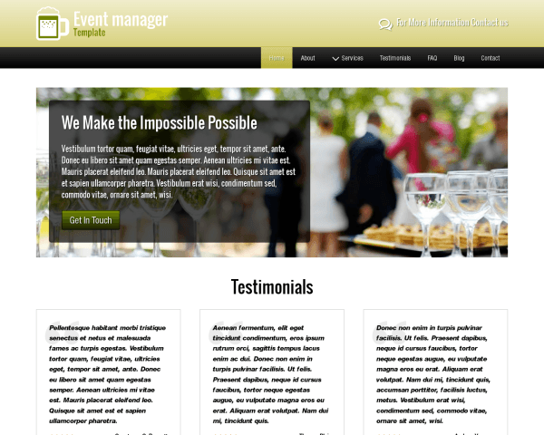 Event Manager Template