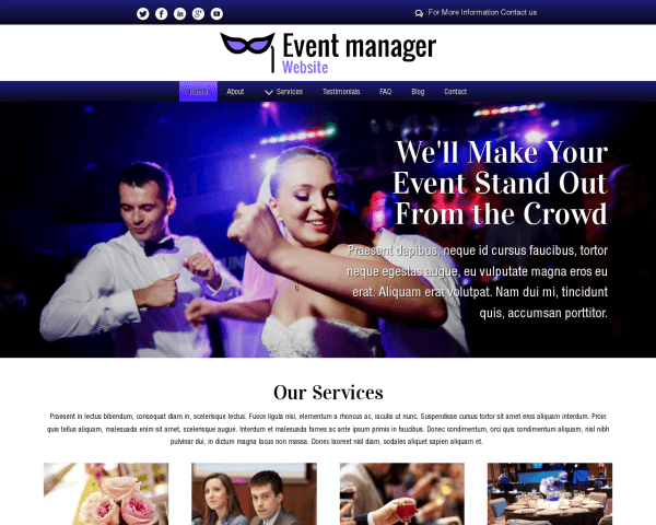 Event Manager Website