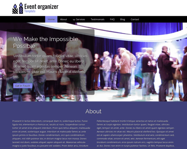 Event Organizer Template