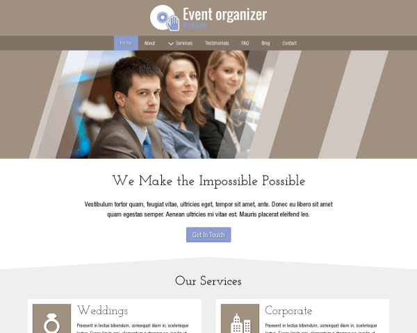 Event Organizer Website