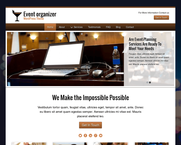 Event Organizer Wordpress Theme